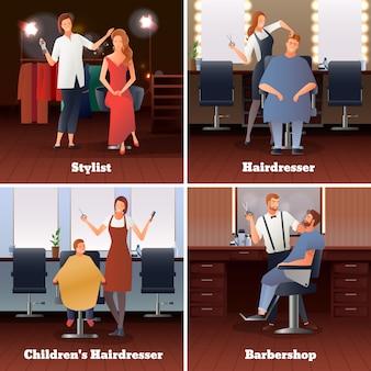 Estilista barbearia design conceito