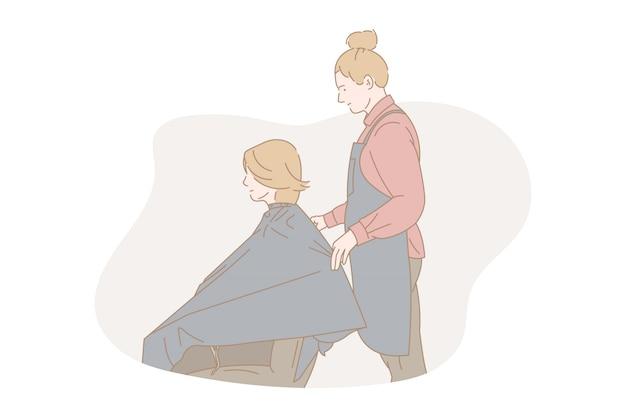 Estilista de cabelo feminino.