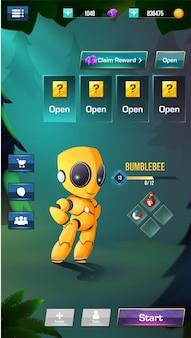 Estilizar o menu de elementos da iu do jogo