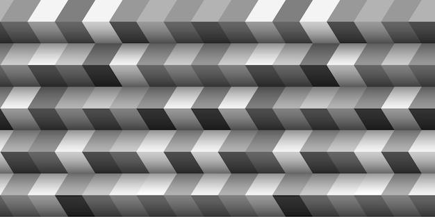 Estilo 3d abstrato geométrico, ilusão de escada. modelo de design gráfico, modelo monocromático. ilustração vetorial