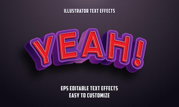 Estilo 3d estilo de efeitos de texto editável