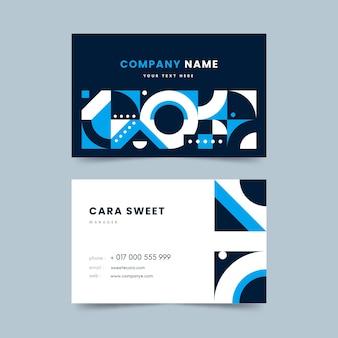Estilo abstrato azul clássico modelo de cartão de visita