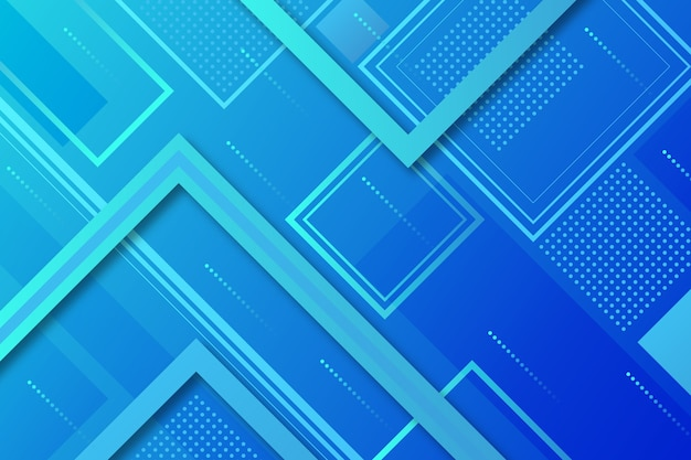 Estilo abstrato de fundo azul clássico com quadrados