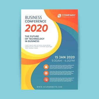 Estilo abstrato de modelo de panfleto de negócios