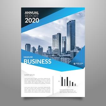 Estilo abstrato de panfleto de negócios metropolitana