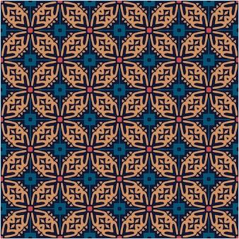 Estilo abstrato do fundo do padrão do motivo do batik