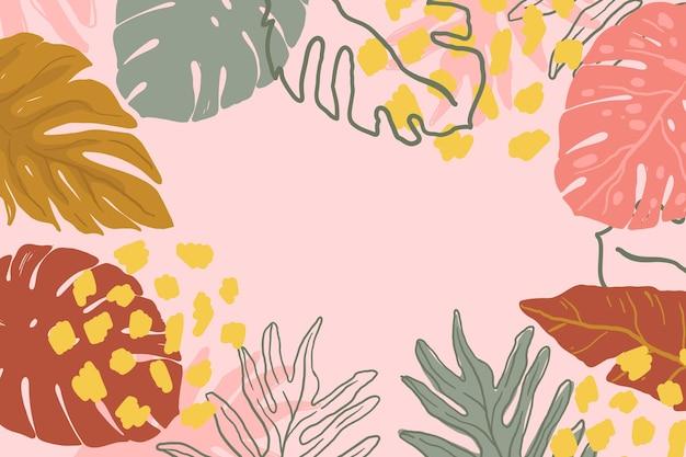 Estilo abstrato folhas tropicais