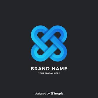 Estilo abstrato gradiente de logotipo modelo