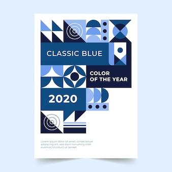 Estilo abstrato modelo de panfleto azul clássico