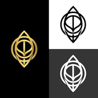 Estilo abstrato para logotipo em duas versões