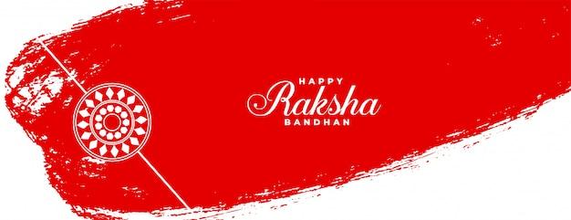 Estilo abstrato raksha bandhan banner festival indiano