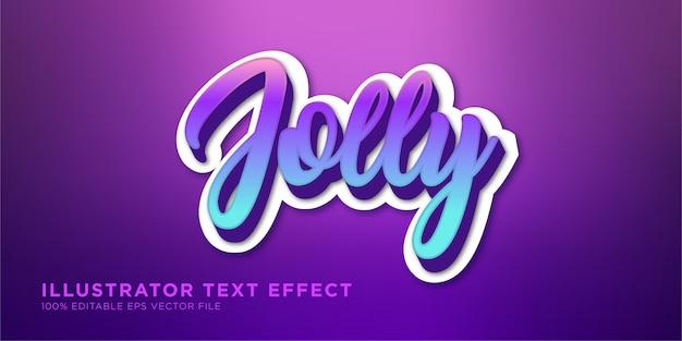 Estilo alegre e vibrante do text effect design illustrator