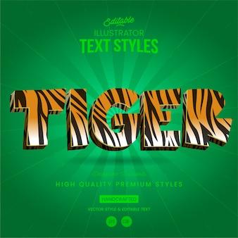 Estilo animal do texto tigre