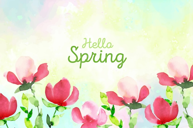 Estilo aquarela de conceito de primavera