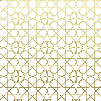 Estilo árabe padrão ouro. fundo decorativo geométrico tradicional do leste árabe.