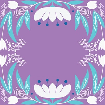 Estilo art deco de cartão floral moderno
