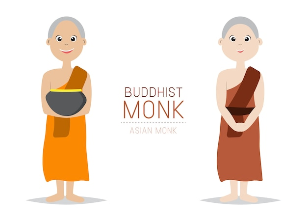 Estilo asiático de monge budista