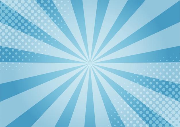 Estilo azul abstrato dos desenhos animados da ilustração azul cômica. fundo