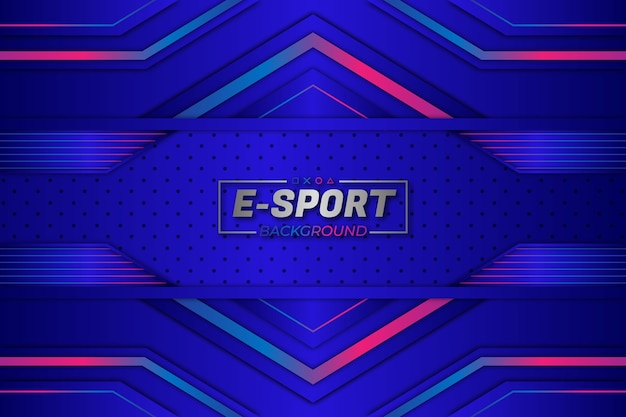 Estilo azul de fundo de esportes eletrônicos