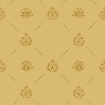 Estilo barroco de padrão sem emenda. decoração de fundo vintage retrô.