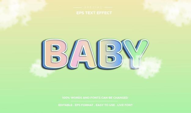 Estilo bebê com efeito de texto editável