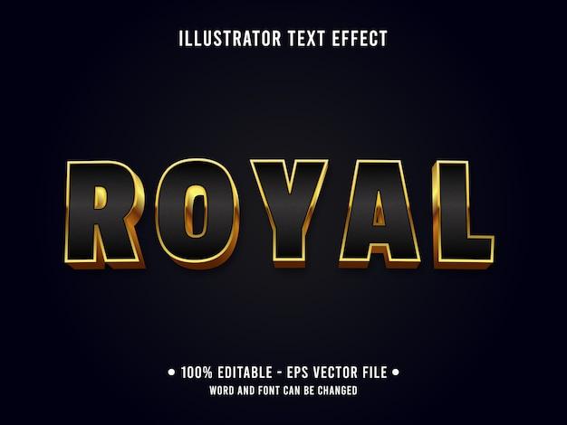 Estilo clássico de efeito de texto editável real