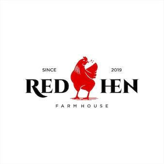 Estilo clássico do logotipo de frango de galinha