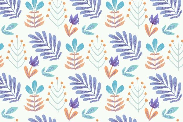 Estilo colorido de padrão floral