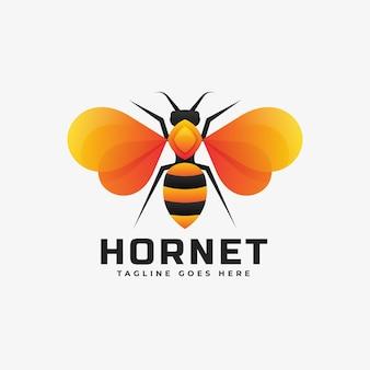 Estilo colorido do gradiente do vespa do logotipo.