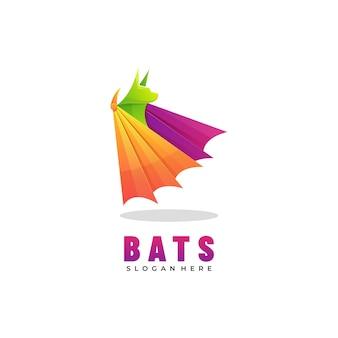 Estilo colorido do gradiente dos bastões do logotipo.