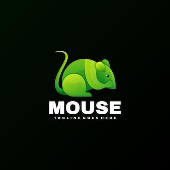 Estilo colorido gradiente do mouse do logotipo