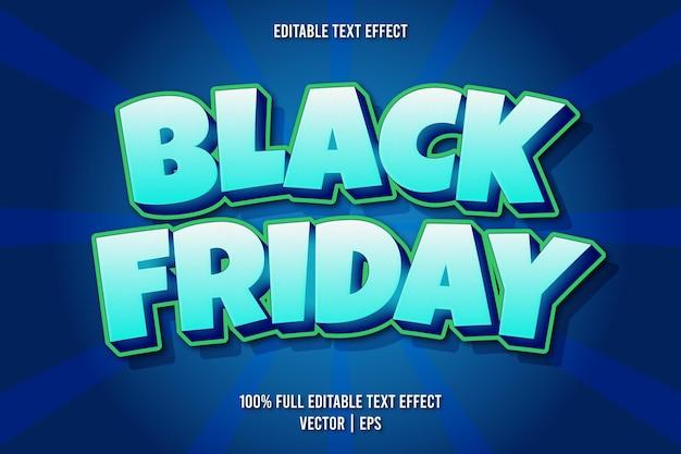 Estilo cômico com efeito de texto editável black friday