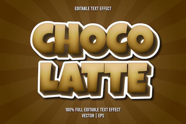 Estilo cômico com efeito de texto editável choco latte