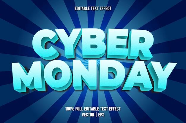 Estilo cômico com efeito de texto editável da cyber segunda-feira