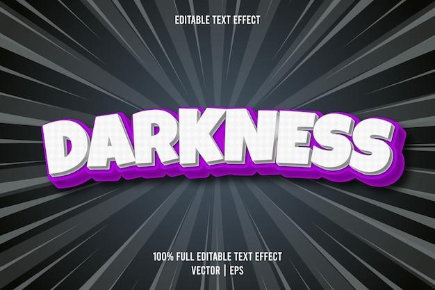Estilo cômico com efeito de texto editável darkness