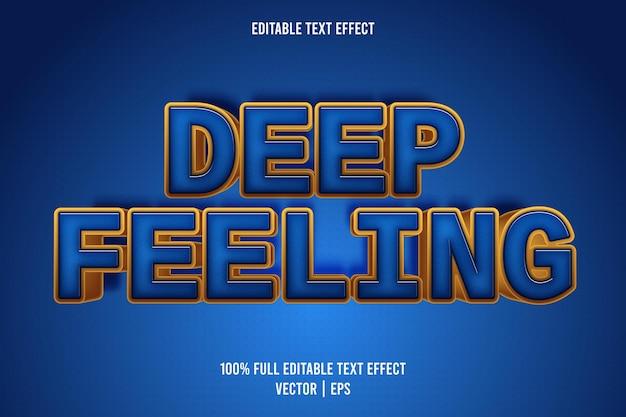 Estilo cômico de efeito de texto editável de sensação profunda
