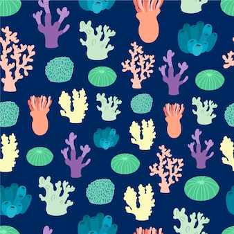 Estilo coral padrão colorido
