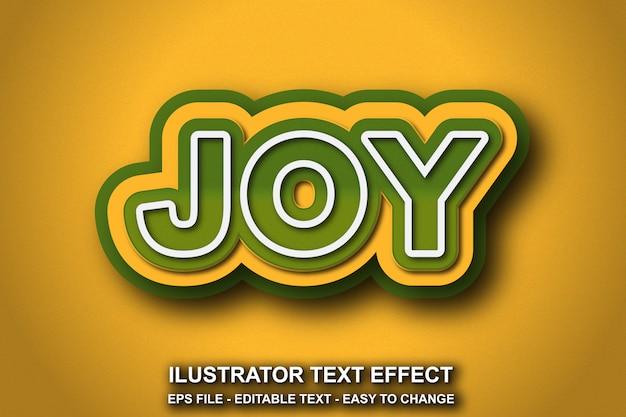 Estilo de alegria de efeito de texto editável