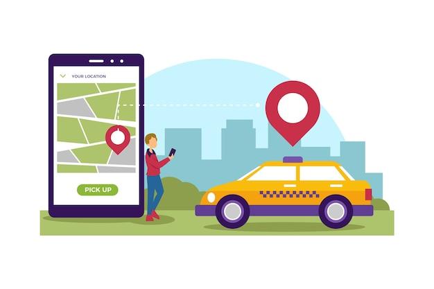 Estilo de aplicativo de serviço de táxi