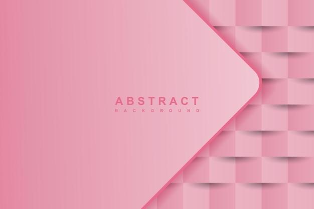 Estilo de arte de papel 3d abstrato rosa com forma diagonal sobreposta em camadas