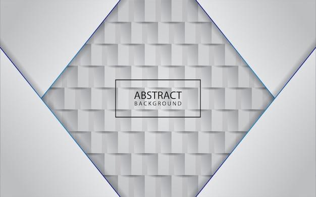 Estilo de arte de papel 3d de fundo branco com linha azul