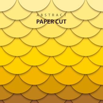 Estilo de arte de papel abstrato 3d