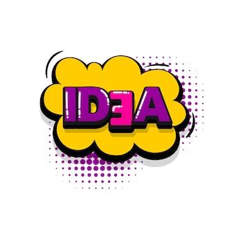 Estilo de arte pop de efeitos sonoros de texto em quadrinhos do idea vector discurso bolha palavra desenho animado