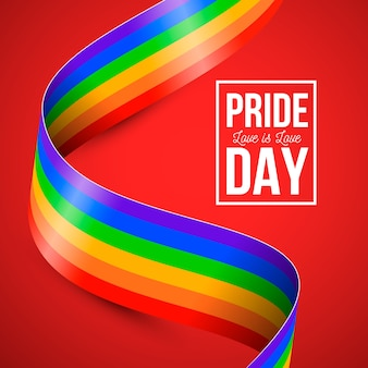 Estilo de bandeira do arco-íris do dia do orgulho