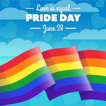 Estilo de bandeira do dia do orgulho