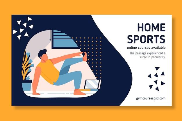 Estilo de banner de esporte em casa