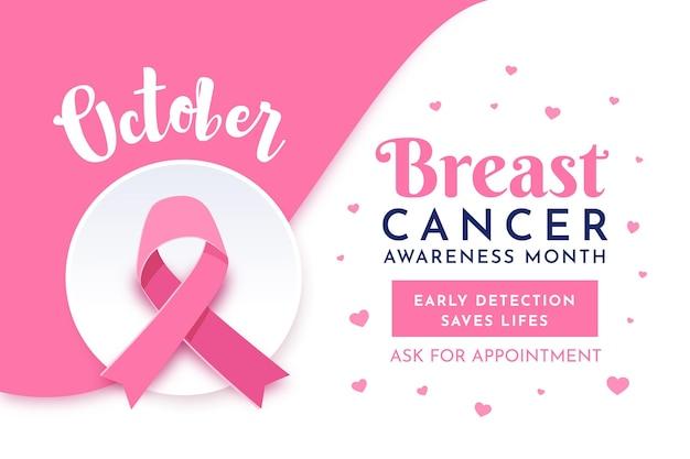 Estilo de banner do mês de conscientização do câncer de mama