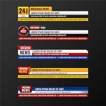 Estilo de banners de notícias de última hora