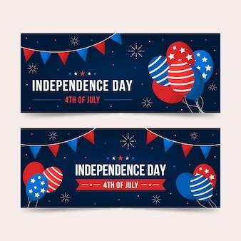 Estilo de banners horizontais do dia da independência