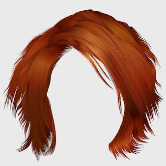 Estilo de cabelo vermelho na moda mulher
